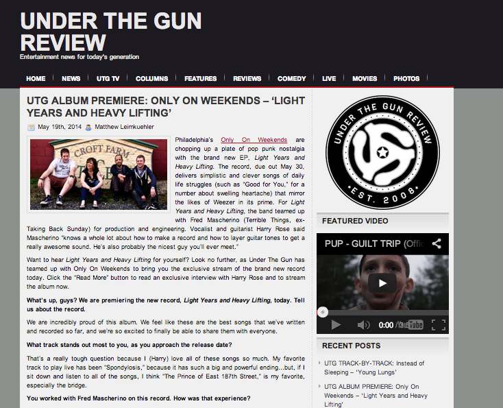 Under The Gun Review Only On Weekends