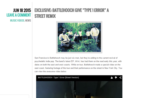 Battlehooch Type 1 Error Street Planet Stereo