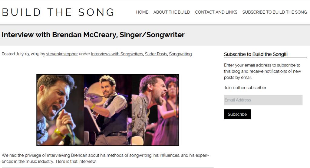 Brendan McCreary Interview