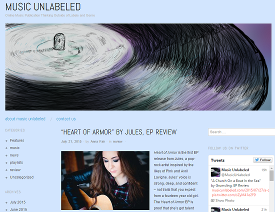 Jules ep review music unlabeled